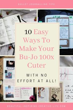 10 Easy AF Ways To Make Your Bullet Journal Cuter With No Artistic Ability – Super quick and simple ways to instantly boost your bullet journal's aesthetic appeal. Bullet Journal Inspiration, Journal Ideas, Home Management Binder, Bullet Journal Aesthetic, Cute Notebooks, Life Planner, Planner Ideas, Tricks, Make It Yourself