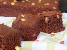Recette Dessert : Brownies aux smarties et flocons d'avoine par Mirette-aux-fourneaux