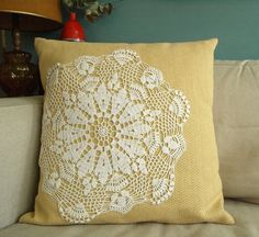 Pillow with Doily How-To