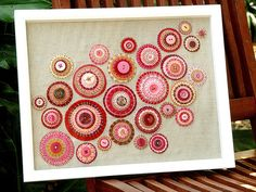 Felt Circles - A picture for the dining room me thinks