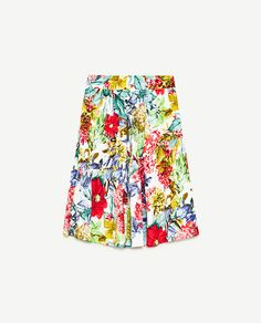 Image 8 of PRINTED POPLIN SKIRT WITH FRILL from Zara