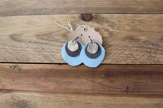 Leather Layer Earrings by laborofleather on Etsy