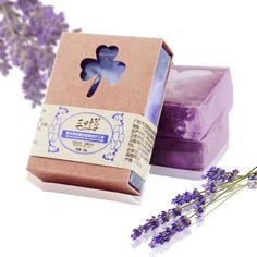 100g Organic Natural Handmade Lavender Oil Soap Remove Ance oil Control Moisturizing Bath Soap Free Shipping