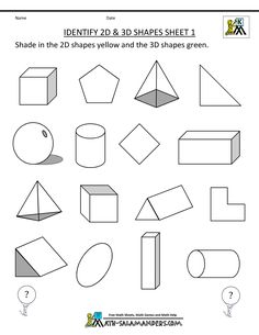 Worksheets for shape and form -instead have them shade according to light and shape