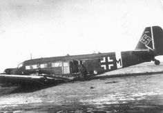 Junkers JU52 captured by Russians at Stalingrad
