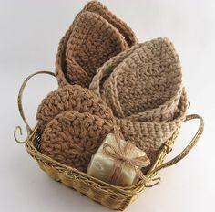 Organic Cotton Spa Gift Basket Handmade by ThoughtfulGemsCrafts, $34.00