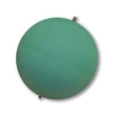 """Esfera OASIS® es una pieza precortada de espuma floral OASIS® Deluxe en forma circular, tienen un soporte al centro que permite ser colgada. Disponible en dos tamaños: 12"""" (30.8 cm) y 16"""" (40.64 cm) de diámetro. Distribuido por Smithers Oasis de México S.A. de C.V. www.oasisfloral.mx, Lada sin costo en México 01800 839 9500, y +52 (81) 8336 1245 desde Monterrey o fuera del país."""