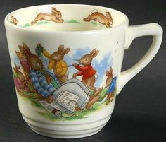 Flat Cup in the Bunnykins (casino Shape) pattern by Royal Doulton China