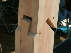 Sample joinery by skill college student in Japan. Once it is in place, it is hard to see how it was put together, like puzzle.