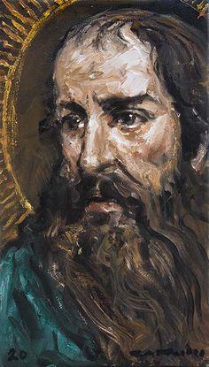 Catholic Art, Religious Art, Oil Painting On Canvas, Oil Paintings, Paul The Apostle, Spiritual Decor, Sacred Art, Heavenly Father, Math Activities