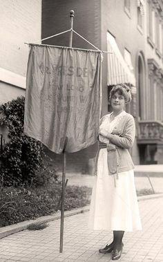 "Suffragette - ""Mr. President How Long Must Women Wait For Liberty"""