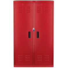 Red Locker ❤ liked on Polyvore featuring home, home decor, red home accessories, red locker and red home decor