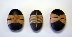 Straw-wrapped Stones crafted by Shizue, a maker of Japanese baskets.