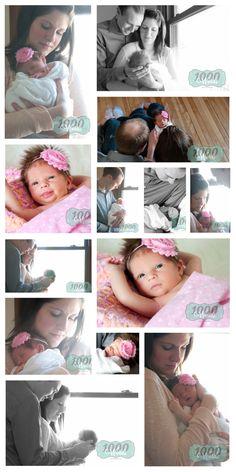 Newborn photography, baby girl photography, newborn family photos