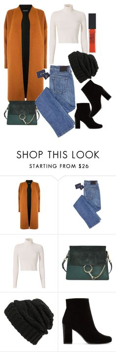 """""""Beanies"""" by dianka-bernathova ❤ liked on Polyvore featuring Warehouse, A.L.C., Chloé, Leith, Yves Saint Laurent and Maybelline"""