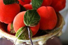 Vintage Velvet Fruit by kijsa on Etsy, $12.00