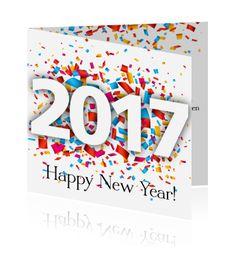 Een nieuwjaar uitnodiging voor de nieuwjaarsreceptie. Een moderne kaart voor de borrel.