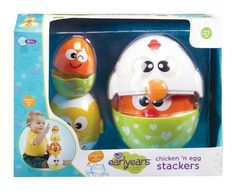 Earlyears Chicken n Egg Stackers  8 Piece Nesting  Stacking Play Set for 6 Months and Up -- Click image for more details.Note:It is affiliate link to Amazon. #girls