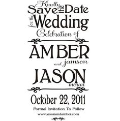Small custom save the date rubber stamp for Paula G. $38.00, via Etsy.