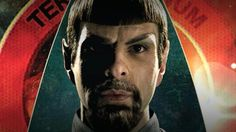 nu - Mirror - evil - Spock (Zachary Quinto) -- btw this is for a comic cover, not the movie