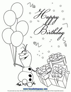 24 Best Disney Frozen Birthday Coloring Pages images ...