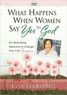 Lysa Terkeurst is amazing… I saw her during the Women of Faith Conference and her testimony made me cry