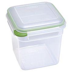 Sterilite 12.6-Cup Square Storage Container, Brite Green