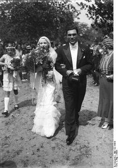Anni Ondra mit Ehemann Max Schmeling 1933