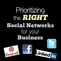 Prioritizing The Right Social Networks For Your Business