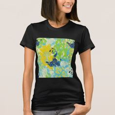 floral peacock T-Shirt - retro clothing outfits vintage style custom