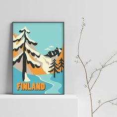 Hi Finland! Have you ever seen a winter forest in the northern regions? #finland #scandinavia #scandi #print #finlandprint #winter
