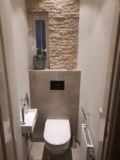 Toilet idea thuis - Home Page Cloakroom Toilet Downstairs Loo, Wc Bathroom, Small Bathroom, Small Toilet Room, Remodled Bathrooms, Wc Design, Tidy Room, Beautiful Bathrooms, Bathroom Interior Design