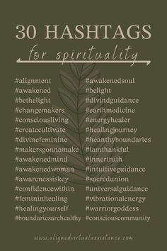 Want to increase your Instagram post reach to connect with your ideal clients? Hashtags are an amazing way to increase your reach organically! Check out these 30 hashtags for spirituality. Put them in a bundle and use them with your next spirituality-related post on IG! For more of these and THOUSANDS of other niched tags, follow the link &check out Hashtag Hub!   alignedvirtualassistance.com   #hashtags #spiritualityhashtags #spirituality #spiritualbiz #businesstips #contentcreation #instagram Business Hashtags, Social Media Marketing Business, Ig Hashtags, Social Media Content, Social Media Tips, Instagram Hashtags For Likes, Blog Writing, Spirituality, Inspirational Hashtags