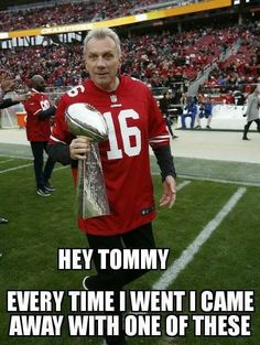 Joe Montana is Perfect in Super Bowls. Bay Sports, Sports Stars, Kids Sports, Nfl Jokes, Football Jokes, Football Defense, 49ers Players, Nfl Football Players, Chiefs Football