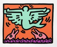 Available for sale from Julien's Auctions: Street Art Now June Keith Haring, Untitled VC Silkscreen on paper, 16 × 13 in Keith Haring Prints, Keith Haring Art, Acid Trip Art, Jm Basquiat, James Rosenquist, Claes Oldenburg, Jasper Johns, Art Walk, Arte Pop
