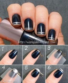 Or use tape to get a double stripe on your nails. | the Easy Nail Art Hacks, Tips and Tricks For The Cutest Manicure Ever?