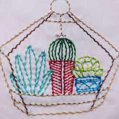 Whipped running stitch terrarium! Modern Embroidery, Hand Embroidery, Fashion Illustrations, Fashion Sketches, Plant Art, Running Stitch, Terrarium, Crafts, Diy