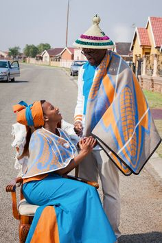 Shweshwe Pants, Jumpsuit and Wedding Dress for onto Tswana Wedding/Shweshwe Attire Board in Southern Africa Category.