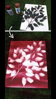 Leaf silhouette picture. Easy to DIY. I think I might use this as an alternative guest book for our wedding.