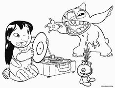 Free Printable Lilo and Stitch Coloring Pages For Kids | Pinterest ...