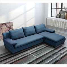 Zuo Axiom Sofa Cowboy In Blue   900601   Lowest Price Online On All Zuo  Axiom