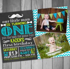 My baby is Famous!!  Hey, I found this really awesome Etsy listing at https://www.etsy.com/listing/193566829/first-birthday-invitation-boy-birthday