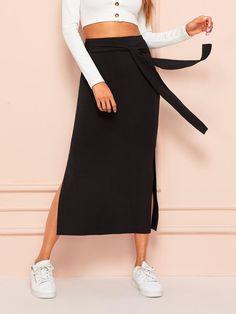6-12 Womens Ladies New Trendy Plain Grey Frill Layer Zip Pencil Skirt