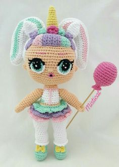 LoL Unicorn Amigurumi Free pattern and Tutorials amigurumi amigurumiunicornio unicorn Crochet Doll Pattern, Crochet Patterns Amigurumi, Amigurumi Doll, Crochet Dolls, Crochet Baby, Free Crochet, Knitting Patterns, Crochet Crafts, Yarn Crafts