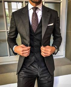 Best suits for men, cool suits, mens suits, mens casual suits, formal Mens Fashion Suits, Mens Suits, Style Costume Homme, Suit Combinations, Moda Formal, Classy Suits, Mode Costume, Designer Suits For Men, Herren Outfit