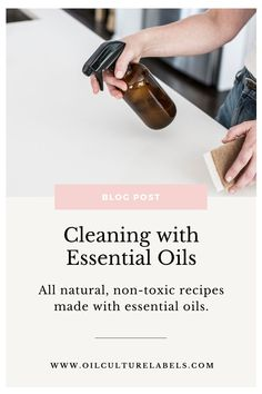 Essential Oils Cleaning, Best Essential Oils, Essential Oil Uses, Cleaning Spray, Green Cleaning, Natural Cleaning Products, Bottle Labels, Natural Health, Peppermint