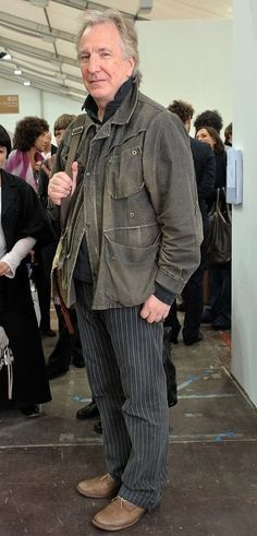 October 14, 2009 -- Actor Alan Rickman attends the Frieze Art Fair private view at Regent's Park in London, England.