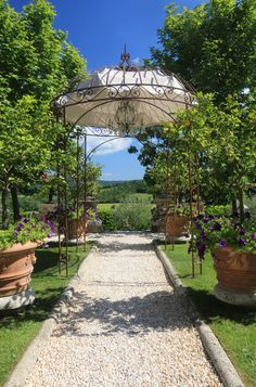 This much awarded luxurious Tuscan hotel, @brgosantopietro, is like an…