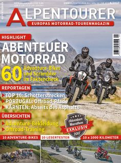 ALPENTOURER 4/2017 Marathon, New Books, Comic Books, Training, Comics, Day, Magazines, Touring, Alps