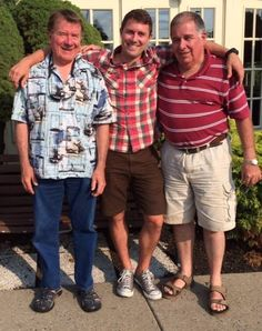 Three Martin military men in Philadelphia July 22, 2014. Youngest (Steve) is commissioned officer, the other two are enlisted.